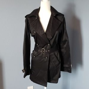 Express Trenchcoat Black Size 6 Made in Sri Lanka